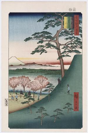 Original Fuji, Meguro', from the Series 'One Hundred Views of Famous Places in Edo'