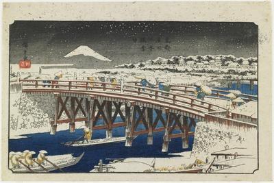 Nihonbashi Bridge in Snow, 1839-1842