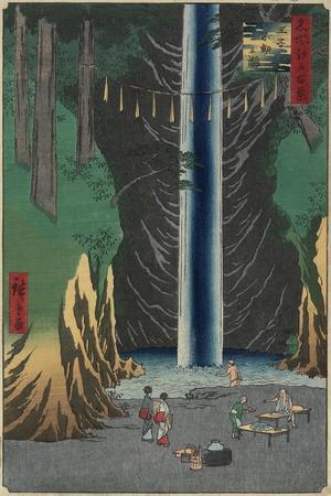 Fudo Waterfall, Oji, 1857