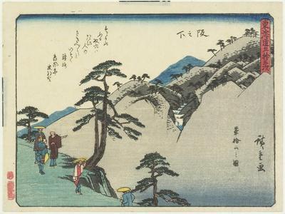 View of the Fudesaka Mountain in Sakanoshita, 1837-1844