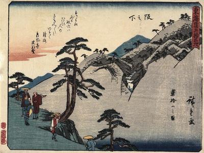 View of the Fudesute Mountain in Sakanoshita, 1837-1844