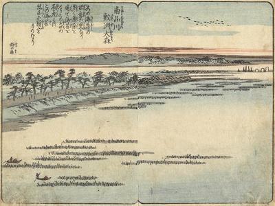Samezu Beach at Omori, South of Shinagawa, C. 1850-1853