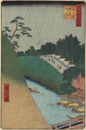 The Temple of Confucius Near the Shohei Bridge over the Kanda River, September 1857