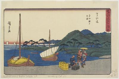 Ferry Port at Imagiri Beach, Maisaka, 1841-1842