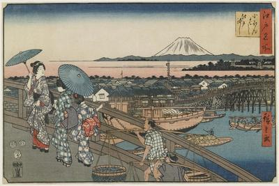 Nihonbashi Bridge and Edo Bridge, November 1853