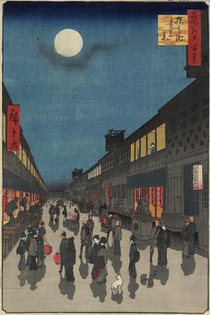 Evening View, of Saruwaka-Machi, September 1857