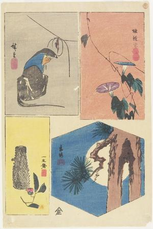 Mixed Print of the Famous Views of Edo, C. 1857