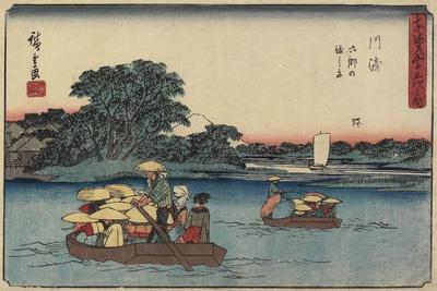 Ferry at Rokugo, Kawasaki, 1841-1842