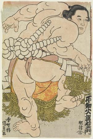 The Yokozuna Wrestler Shiranui Dakuemon of the Higo Stable, 1830-1844