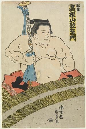 The Wrestler Takaneyama Seiemon of the Higo Stable, 1830-1844