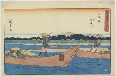 Ferry on the Tenryu River at Mitsuke, 1841-1842