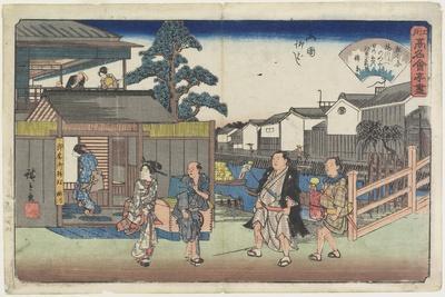 Umegawa at Yanagibashi in Ryogoku, C. 1835-1842