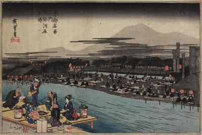 Cool of the Evening at Shijo Riverbank, C. 1834