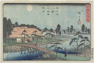 Autumn Moon over Mokuboji Temple, C. 1840-1842