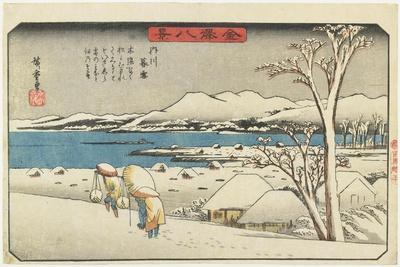 Evening Snow at Uchikawa, 1835-1836