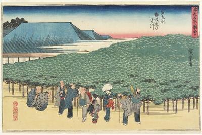 Giant Pine of Naniwaya in Anryu-Machi, C. 1834