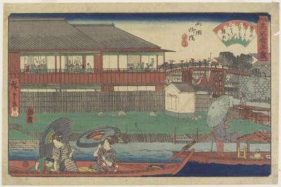 Onoshi at Yanagibashi in Ryogoku, C. 1835-1842
