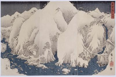 Mountains and Rivers of Kiso', 1857