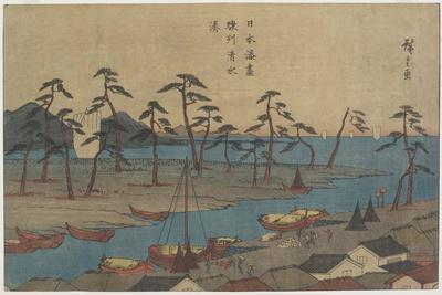 Shimizu Port in Suruga Province, C. 1840-1843