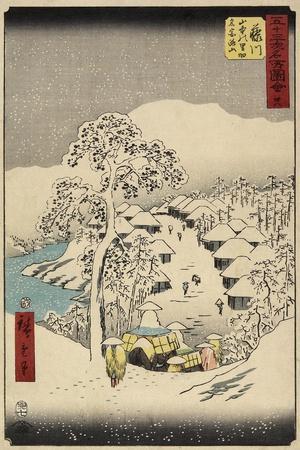 No.38 Yamanaka Village in Fujikawa, July 1855