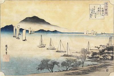 Returning Sails at Yabase, C. 1834