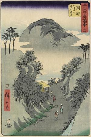 No.22 Mount Utsu, Okabe, July 1855