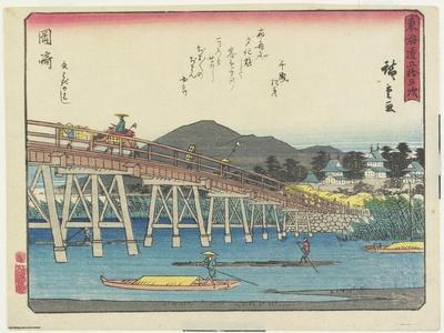 Yahagi Bridge in Okazaki, 1837-1844