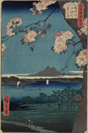 Forest of Suijin Shrine and Masaki on the Sumida River, August 1856