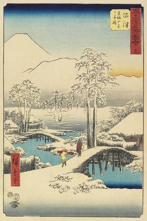 No.13: Ashigara and Fuji after Snow Seen from Numazu, July 1855