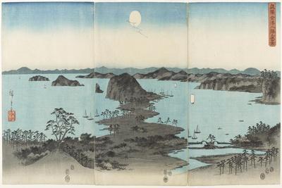 Eight Views of Kanazawa in Musashi Province at Night, July 1857
