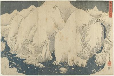 Mountain and River at Kiso Pass, August 1857