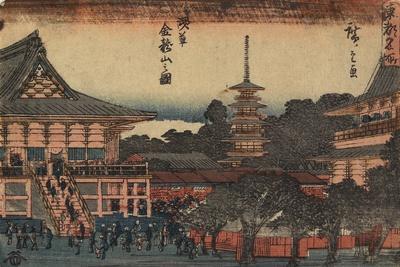 View of Kinryuzan Temple in Asakusa, C. 1841