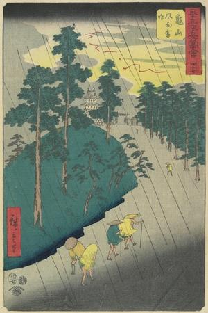 No.47: Thunder Storm at Kameyama, July 1855