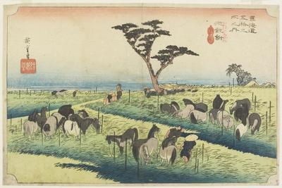 April Horse Fair, Chiryu, C. 1833
