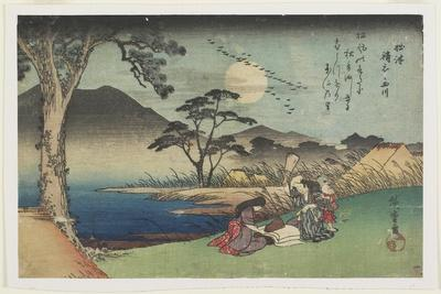 Pounding Silk by the Jewel River in Settsu Province, 1835-1837