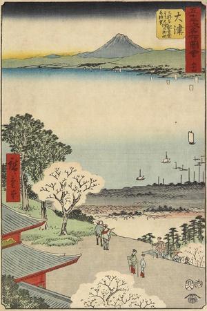 No.54 City View of Otsu Seen from Mii Temple, Otsu, July 1855