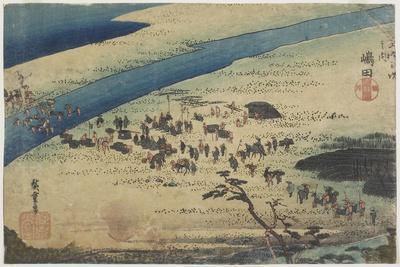 Suruga Bank of Oi River at Shimada, C. 1833