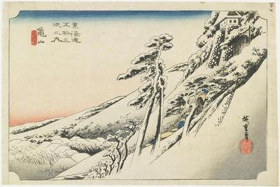 Kameyama--Clear Weather after Snow, C.1833