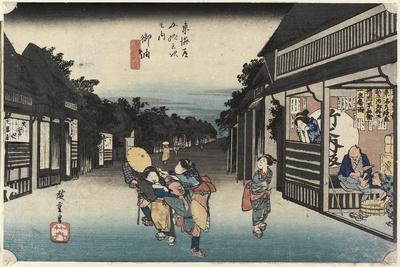 Women Soliciating Travelers, Goyu, C. 1833