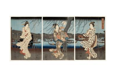 A Cool Summer Evening at Ryogoku, 1848-51