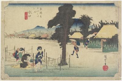 Drying Gourd Shavings, Minakuchi, C. 1833