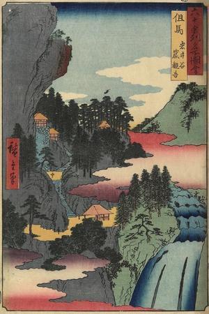 Kannon Temple at Iwaidani, Tajima Province, December 1853