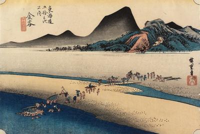Distant Bank of Oi River, Kanaya, C. 1833