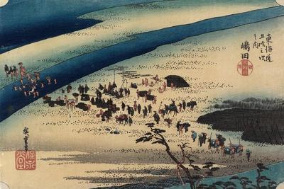 Suruga Bank of Oi River, Shimada, C. 1833