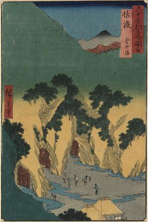 Gold Mine, Sado Province, September 1853
