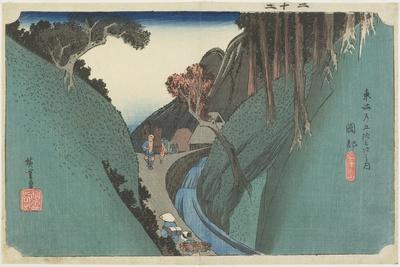 Utsu Mountain, Okabe, C. 1833
