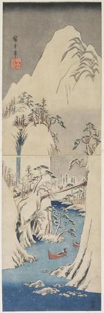 Snow Scene by the Fuji River, C. 1842