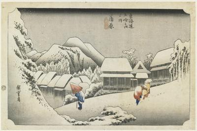 Kanbara--Night Snow, C. 1833