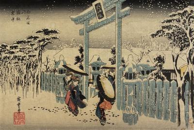 Gion Shrine in Snow, C. 1834