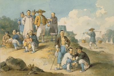 A Group of Chinese Watching the Earl Macartney's Embassy to China